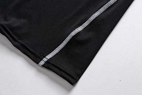 Cody Lundin À manches longues t-shirt serré blanc t-shirt femmes minces sous-vêtements de t-shirt black-f