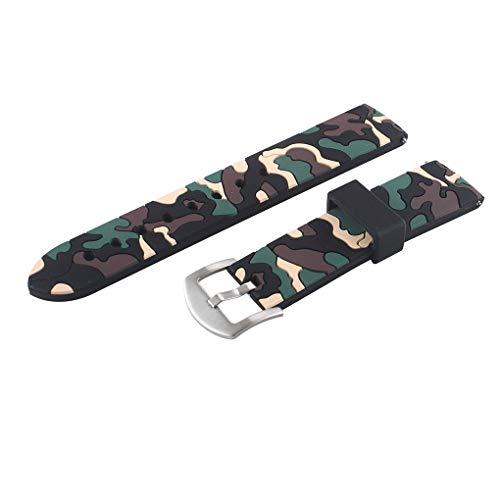 Preisvergleich Produktbild traline Ersatz für Samsung Gear Sport / S3 Galaxy Watch + Silikon-Camouflage-Sportuhr-Armband 22mm / 20mm / 42mm / 46mm