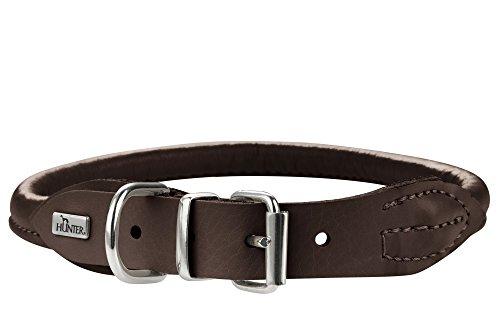 Hunter Hundehalsband Round & Soft Elk, Elchleder, Größe 50 cm, dunkelbraun Preisvergleich