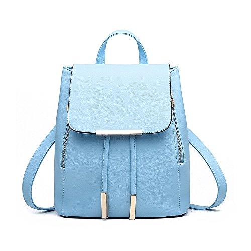 Rucksackhandtaschen,SEARCHALL damen - mode pu - leder rucksack rucksack umhängetasche (hellblau)