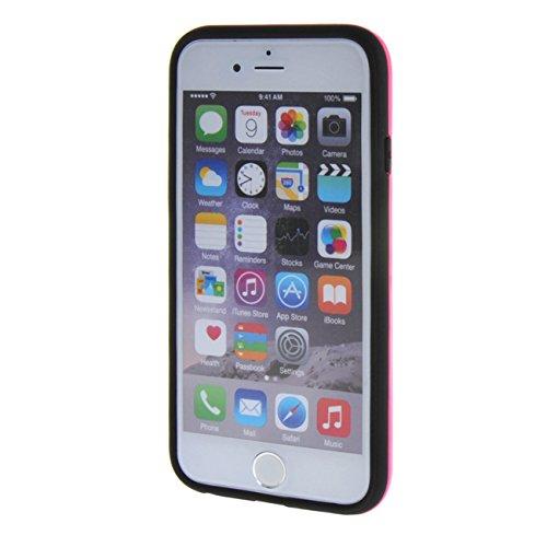 """MOONCASE pour Apple iPhone 6 Plus / 6S Plus (5.5"""") Case Coque Silicone Gel TPU Etui Housse Case Cover Blanc Hot Rose #0201"""