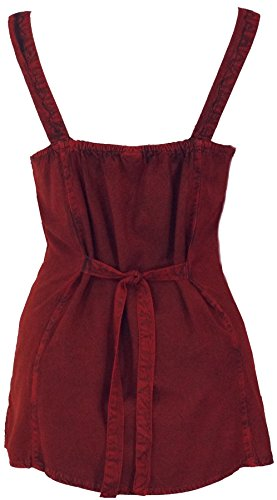 Guru-Shop Besticktes Indisches Top Boho Chic, Damen, Kunstfaser, Size:40, Tops, T-Shirts, Shirts Alternative Bekleidung Rot