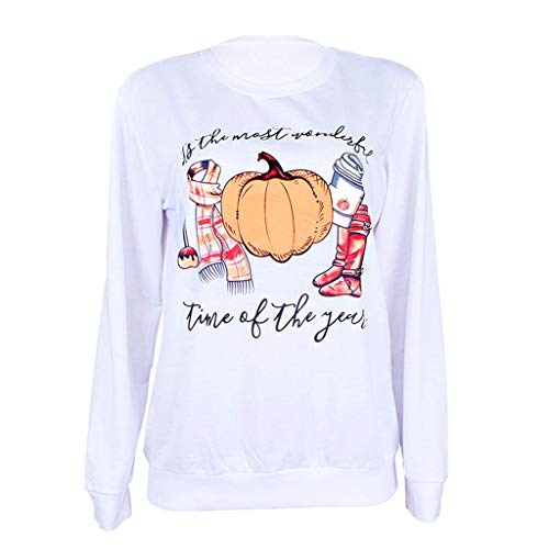 Bill Kostüm Kill Kinder - LOPILY Langarm Shirt Damen Halloween Kostüme Damen Gruselig Kürbis Sweatshirts Halloween Party Tshirts 3D Sweatshirts Damen für Halloween Slogan Tshirt Orange Halloween Hoodie (Weiß, 42)