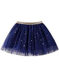 YWLINK 1 UNID Falda Moda Bebé NiñOs NiñAs Princesa Estrellas Lentejuelas Fiesta Baile Ballet Tutu Faldas
