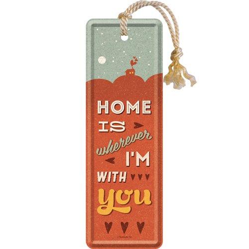 Nostalgic Art 45037Word up-Home is Wherever I' m With You, Segnalibro 5x 15cm