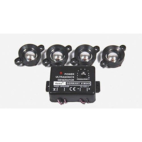 Preisvergleich Produktbild Marderstopp Marderscheuche Marderschutz Kemo M094 mit 4 Ultraschall-Lautsprechern