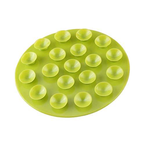 Zerodis Creativo per bambini da tavola Sucker Baby Kids Magia Aspirazione Mat portatile a doppia faccia ventosa antiscivolo piatto ciotola posate tovaglietta(verde)
