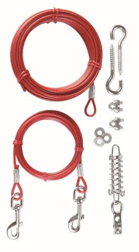 Trixie cavo con puleggia Tie Out, 15m, colore: rosso