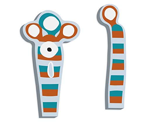 ABC Buchstaben Monster Reese aus Holz, ideal als Verzierung von Holzbuchstaben, als Deko oder Türschild geeignet ()
