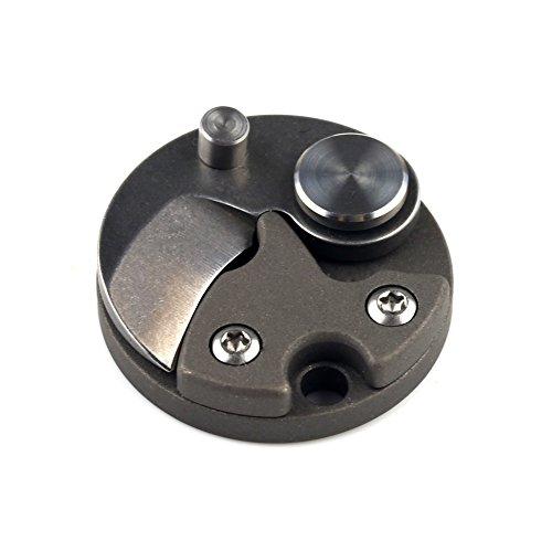 Edc-tool (Mini bewegliches Münzen faltendes Messer Keychain EDC im Freientaschen Überlebens Werkzeuge Schwarz (Schwarz))