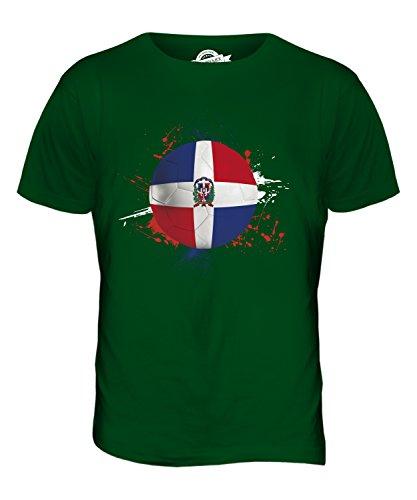 CandyMix Dominikanische Republik Fußball Herren T Shirt Flaschengrün