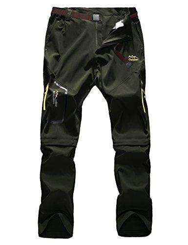Echinodon Herren Outdoorhose Zipp Off Hose Schnelltrockende Trekkinghose Wanderhose Sommer Frühling Armeegrün Asien 3XL