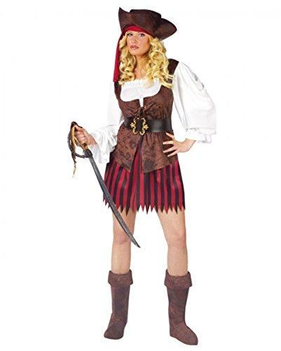 Horror-Shop Sexy Piraten Lady Kostüm Small - Sexy Piraten Lady Kostüm
