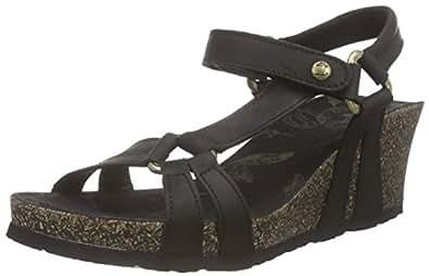 panama jack violetta damen plateau sandalen schwarz black 42 eu schuhe. Black Bedroom Furniture Sets. Home Design Ideas