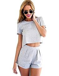 Tongshi Pantalones mujeres de Clubwear del partido Playsuit O-Cuello del mono del mameluco