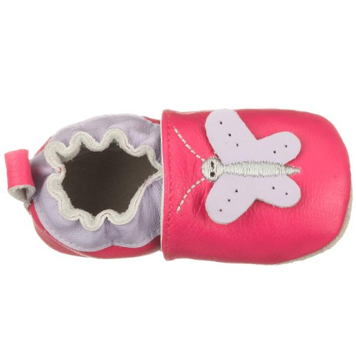 Playshoes Leder-Slipper Schmetterling 101649, Mädchen Babyschuhe Pink (Original900)