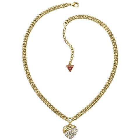 Guess Damen-Halskette Metall mit Herz UBN71270