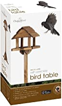ChapelWood Premium - Comedero plano para pájaros, madera