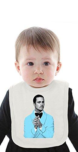 Brad Pitt Blue Suit Organic Baby Bib With Ties Medium