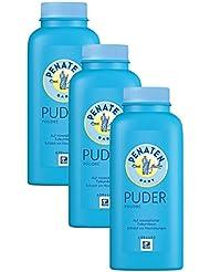 Penaten Puder 100g / Puder für empfindliche Babyhaut - beugt Hautrötungen vor / 3 x 100g