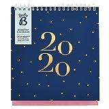 marineblauer Busy B Schreibtischkalender 2020 mit Steckfächern & integriertem Ständer