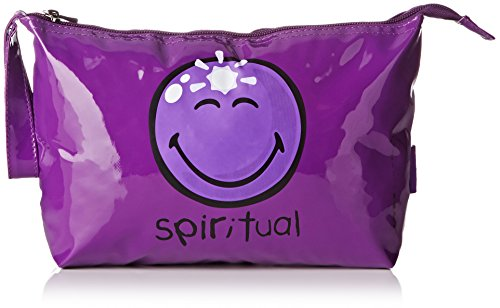 Incidence Paris Trousse Vinyle M Happy Colors Spirituality, 26 cm, Violet