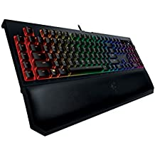 Razer BlackWidow Chroma V2 - Teclado Gaming (reposamuñecas ergonómico, retroiluminación RGB, programable, con 5 teclas macro, Green Switches) - QWERTY Español