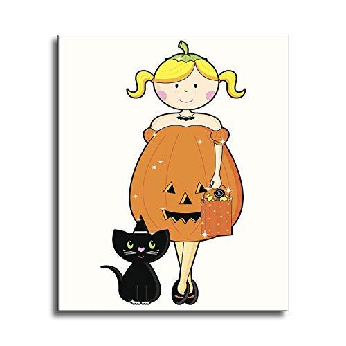 mälde für Zuhause, Wanddekoration, Kreuzstich, Strass-Stickerei-Set, DIY Kunst Handwerk Handwerk Affe Maske - Pumpkin Beauty - 9.8x11.8inch ()