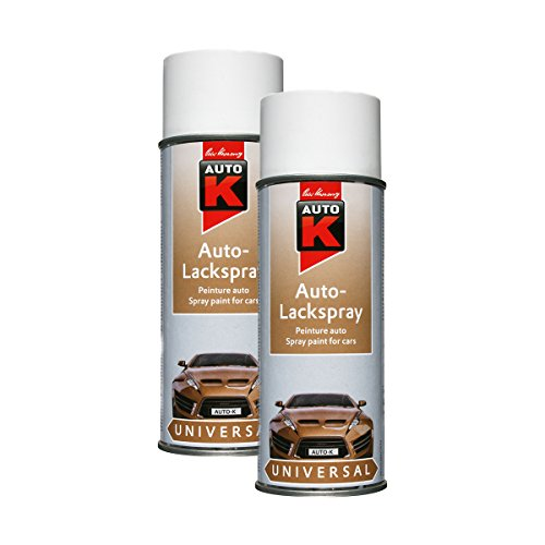 2x KWASNY 233 040 AUTO-K UNIVERSAL Auto-Lackspray Weiß Matt 400ml