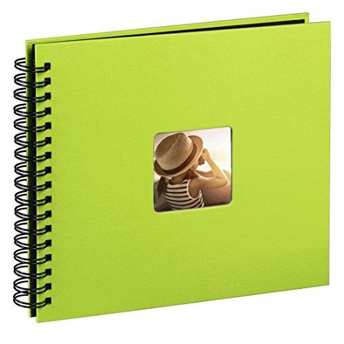 Hama fine art -  album porta foto con spirale, adatto per 300 foto 10x15cm, 50 pagine, verde