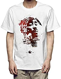 226ee29a7 2Pac Camiseta Nueva Camiseta de algodón de Manga Corta ...