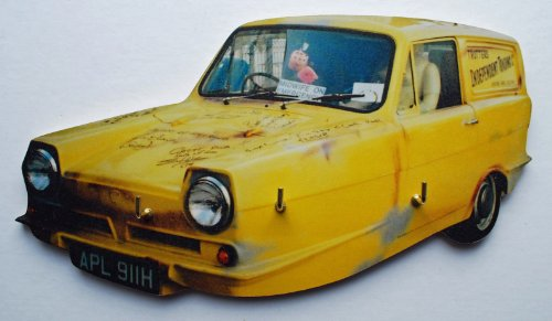 Trotters Independent Trading Yellow Reliant Regal Van Key Rack