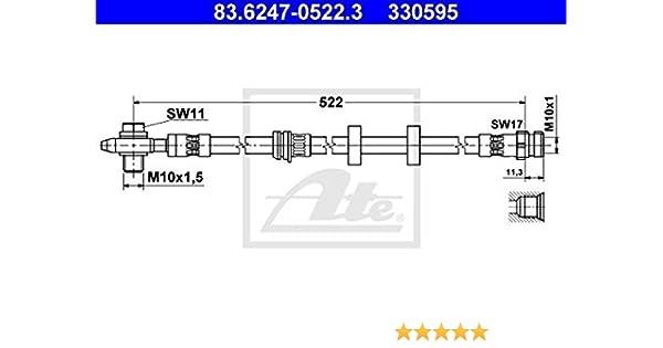 2x ATE Bremsschlauch Bremsleitung beidseitig vorne