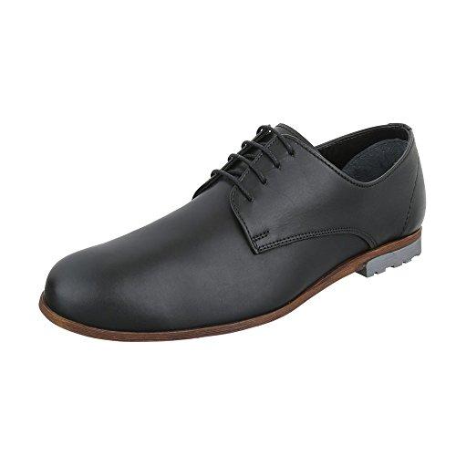 Salto De De Laço Bloco Oxford Baixos Preto Sapatos Sapatos Design Ital Masculinos Lace Couro laços wapTqZYx