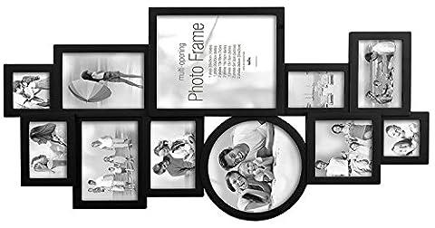 Innova PI04981 Maggiore 25 Cadre Multi Vues pour 11 Photos Noir