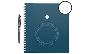 Rocketbook Wave Smart Reusable Notebook - Upload Notes Using iOS/Andriod App and Then Microwave To Clear All Pages and Start Again - Standard / Large Size
