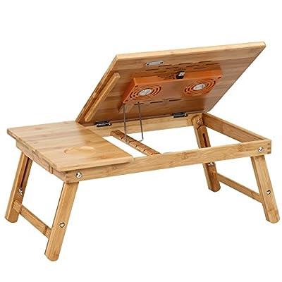 Miadomodo–Table de lit pour Ordinateur Portable Env.55/35/29cm avec Ventilateur et Port USB intégrés par Jago AG - Housses , Chargeurs , Kindle & Fire, Etuis , Téléphone Mobile, PC Portable, Tablette