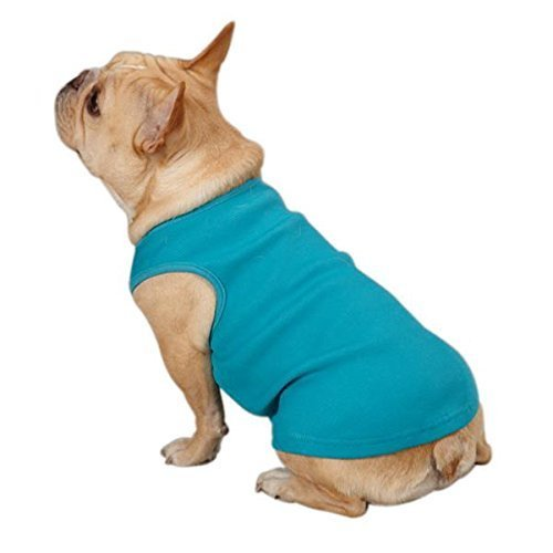Casual Canine Cotton Basic Ribbed Dog Tank Top, Teacup, 6-Inch, Bluebird by PetEdge Dealer Services*