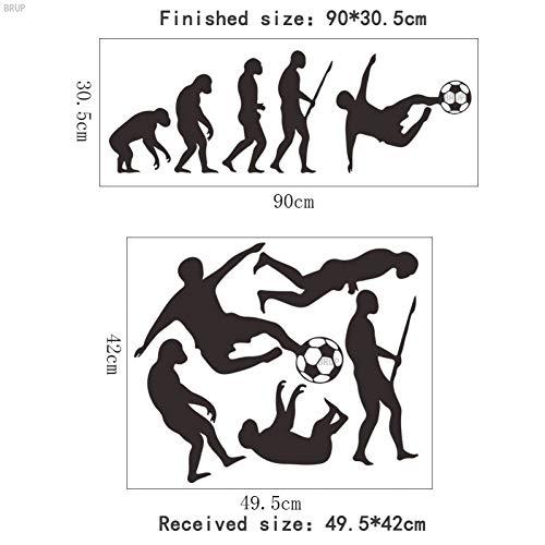 WAYDQT Kreative Human Evolution Wandaufkleber Fußball PVC Vinyl Wohnkultur Für Kinderzimmer Primitive Moderne Menschen Wandtattoos -