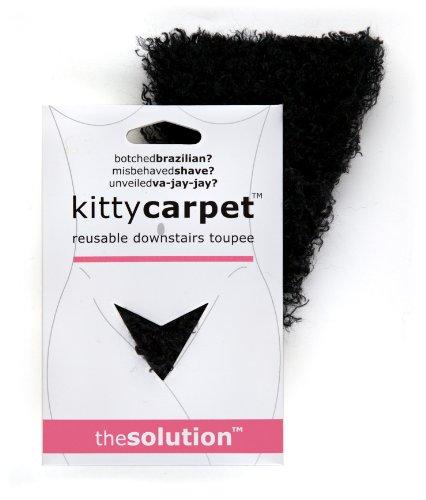 Fashion First Aid: Kitty Carpet: Schamhaar-Toupet Vagina-Perücke Wiederverwendbar Mit Klebestreifen Schwarz