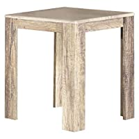 Jiwa Berani Aldi Side Table, Oak - 45H x 45W x 45D cm