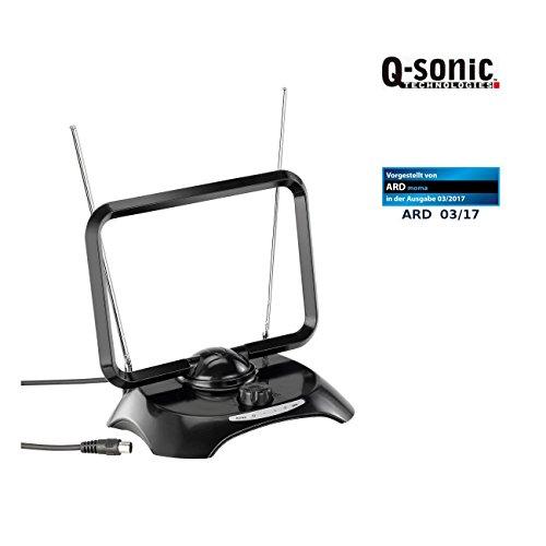 Q-Sonic DVBT Antenne: Aktive DVB-T/T2-Zimmerantenne TX-300.TR, +30 dB (TV Zimmerantenne)