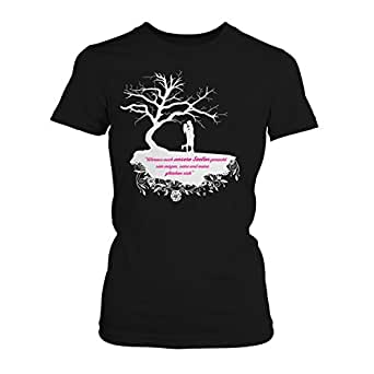 Woraus auch unsere Seelen gemacht sein mögen - Baum - Damen T-Shirt von Fashionalarm   Fan Shirt zur After Buchreihe von A. Todd - Passion Truth Love Forever Before us Anna, Farbe:schwarz;Größe:XS
