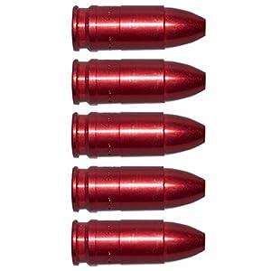 Pufferpatronen 9mm Luger Para Aluminium Rot 5 Stck Pufferpatrone