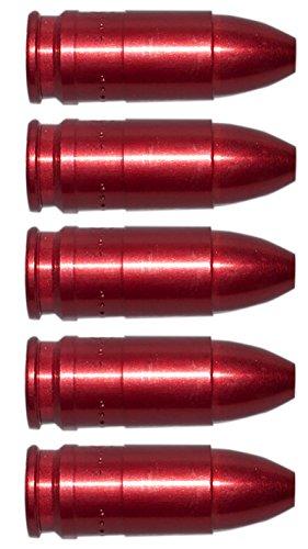 Flachberg Pufferpatronen 9mm Luger/para Aluminium Rot (5 Stück) Pufferpatrone 9 mm -