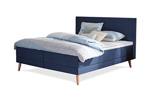 Swiss Sense® - Home 166 Designer Boxspringbett / Amerikanisches Bett - 180 x 210 cm - mit 9-Zonen Taschenfederkern-Matratze - Härtegrad H2 / H3 - Luxusbett, Hotelbett, Doppelbett, Polsterbett