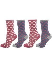 Zest Ladies Soft Mixed Fibre Socks 4-7