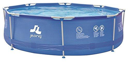 Jilong - piscina redonda con estructura, Azul