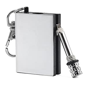 41U hgcwzML. SS300  - Veroda Metal Match Box Refillable Stainless Smoking Striker Lighter