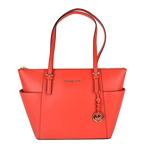 Michael Kors MICHAEL by Jet Set Item Sea Coral Saffiano Top Zip Tote Einheitsgroesse Coral -